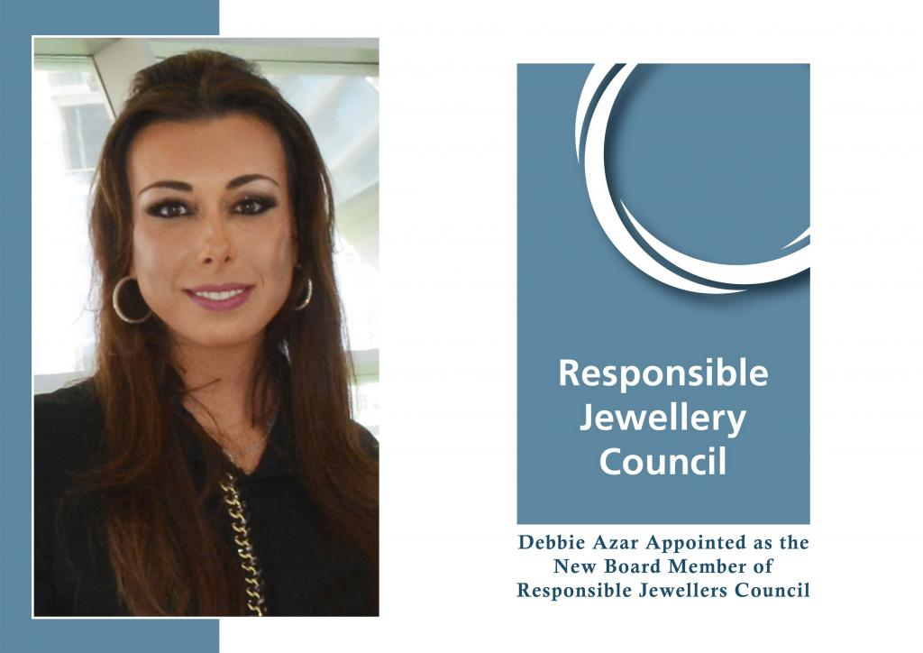 Debbie Azar Appointed as the New Board Member of Responsible Jewellers Council at Moscow Agm