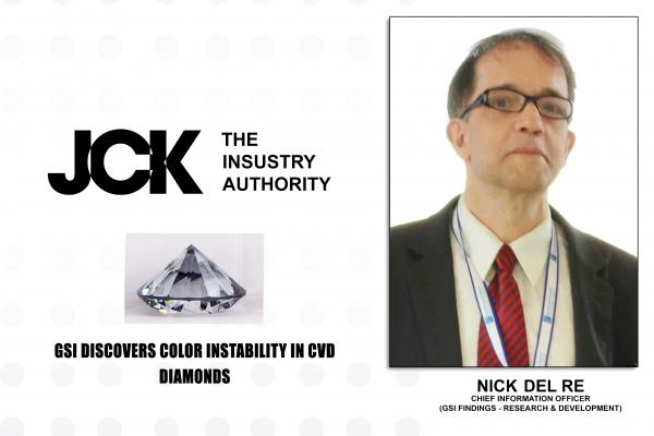 GSI DISCOVERS COLOR INSTABILITY IN CVD DIAMONDS